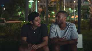Henry Golding and Parker Sawyers in 'Monsoon'. Picture: YouTube screenshot
