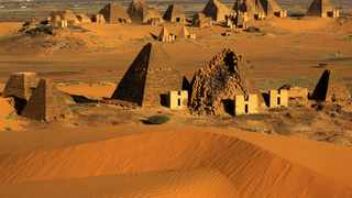 Creeping desert sands surround the Royal Cemeteries of Meroe Pyramids in Begrawiya at River Nile State, Sudan. File picture: Mohamed Nureldin Abdallah/Reuters