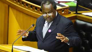 Minister of Finance Tito Mboweni delivered the Mid Term Budget speech in Parliament . Photograph; Phando Jikelo/African News Agency(ANA)