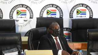 President Cyril Ramaphosa at the Commission of Inquiry into Allegations of State Capture led by Deputy Chief Justice Raymond Zondo. Picture: Itumeleng English/African News Agency (ANA)