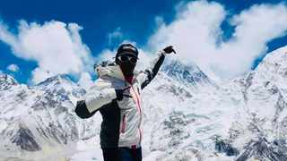 South African female business executive Saray N'kusi Khumalo became the first woman to scale and reach the top of Mount Everest in Asia's Himalayas in Nepal. Picture: Summits with a Purpose Facebook Page