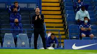 An animated Frank Lampard pitchside against Barnsley on Wednesday. Photo: @ChelseaFC on twitter