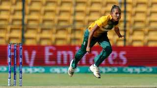 Shabnim Ismail in full flight for South Africa. Photo: icc-cricket.com