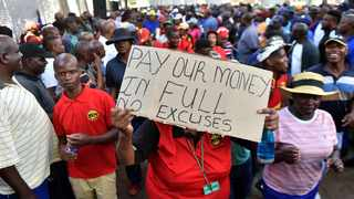 A file picture of municipal workers in Tshwane during a previous strike. Picture: Oupa Mokoena/African News Agency (ANA)