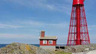 Lisa Enroth spent a week by herself on Hamneskär, home to the famed Pater Noster lighthouse. Picture: Wikipedia.
