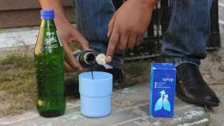 cCape Town:31/05/16: Sprite mixed with Coch syrup is the new drug kids and even primary kids using pix Patrick story Genevieve