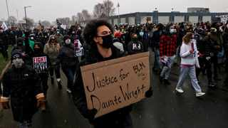 Protesters participate in a march, days after Daunte Wright was shot and killed by a police officer, in Brooklyn Center, Minnesota. Picture: Leah Millis/Reuters