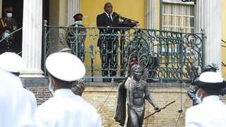 Armed Forces Day was commemorated by President Cyril Ramaphosa at the Castle of Good Hope in Cape Town on Sunday afternoon. Picture: Phando Jikelo/African News Agency