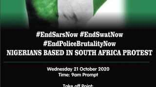 The president of the Nigeria Union South Africa (NUSA) has announced that Nigerians in South Africa will join the #EndSARS protest. Photo: Facebook