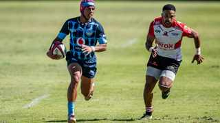 Kurt-Lee Arendse of the Bulls gets away from Courtnall Skosan of the Lions during their Currie Cup semi-final game at Loftus Versfeld in Pretoria on Saturday. Photo: Christiaan Kotze/BackpagePix