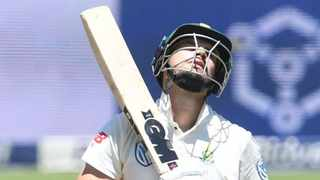 Aiden Markam failed to make any runs in the second Test against India. Photo: Travis Arendse
