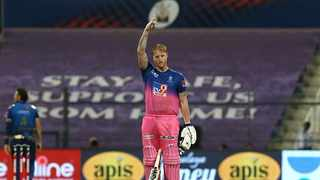 Ben Stokes roared back into form with a scintillating century against Mumbai Indians but is surprised how long it took him to make an impact in this year's IPL. Photo: @rajasthanroyals via Twitter