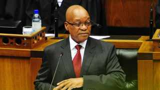 SONA 2014 - President Jacob Zuma delivering his last State of the Nation Address to a Joint Sitting of the two Houses of Parliament. 13/02/2014, Siyabulela Duda, GCIS