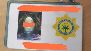 A fake appointment card of one of the suspects arrested by police and community patrollers on Wednesday. Picture: Supplied