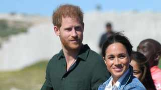 Prince Harry and Duchess Meghan in South Africa. Picture: Bang Showbiz