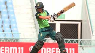 Anneke Bosch scored a brilliant, unbeaten 66 as the Proteas Women beat India by eight wickets in the first Twenty20 International. Photo: @OfficialCSA/Twitter