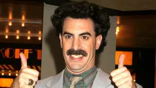 Borat aka Sacha Baron Cohen at the MTV Studios in New York City. Picture: Bang Showbiz
