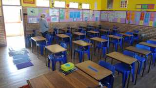 School desks apart to promote social distancing. Picture: Courtney Africa/African News Agency(ANA)