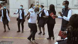 Scores of nurses affiliated to the provincial Denosa Student Movement staged a sit-in at the health department offices yesterday over non-absorption of over 130 Community Service Practitioner Nurses (CSPN) by the department. Photographer - Tracey Adams/African News Agency (ANA)