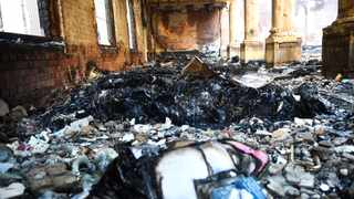 Reading Room of the Jagger Library has been completely gutted by fire which was allegedly started by a vagrant. PICTURE: Phando Jikelo/African News Agency(ANA)