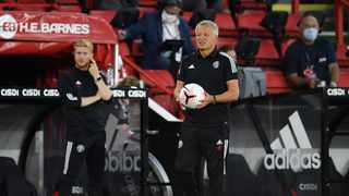 Sheffield United manager Chris Wilder says he cannot understand how English Football League (EFL) clubs can welcome some fans back this weekend given the Covid-19 restrictions in Britain. Picture: Peter Powell/Reuters