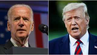 Combo photo shows former Vice President of the United States Joe Biden (L) and sitting President Donald Trump. Picture: Xinhua/IANS)