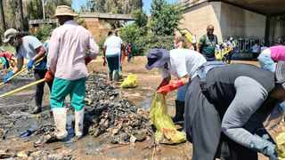 Tshwane executive mayor Randall Williams joined the Hennops Revival NPO for a clean-up of the river at the Gerhard Street bridge. Picture: Supplied