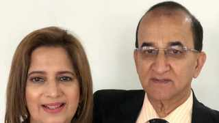 Dr Mahomed Shorty Moolla pictured with his wife, Zarina Moolla.