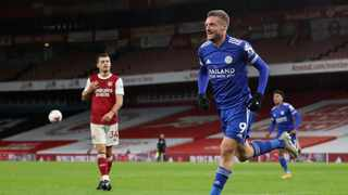 Leicester City manager Brendan Rodgers described Jamie Vardy as a 'world-class' striker after he came back from a calf injury to score the winner against Arsenal. Photo: Catherine Ivill/AP