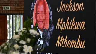 South Africa. Emalahleni. Mpumalanga. 240121. A portrait of the Minister in the Presidency, Jackson Mthembu at his funeral service in Emalahleni. Mpumalanga. Pictures: Kopano Tlape/(GCIS)
