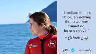 Carmen Long is the first woman in the National Sea Rescue Institute's (NSRI) illustrious history to qualify as a Class 1 coxswain.