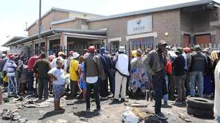 Hundreds of Gugulethu residents queuing outside SASSA offices for their disability grants.Some have spent the night outside these offices,as they have to wait for long hours before being assisted. Picture: Phando Jikelo/African News Agency (ANA)