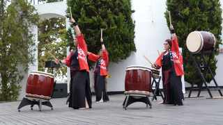 South Africa's only Taiko drumming club, Tamashii Daiko, during their performance at Japan Day 2020. Picture: Luther de Lange
