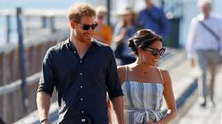 Britain's Prince Harry and Meghan, Duchess of Sussex, arrive to greet members of the public in Kingfisher Bay on Fraser Island in Queensland, Australia October 22, 2018. Picture: Reuters/Phil Noble/File Photo