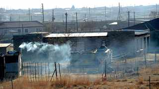 Smoke comes out of the chimney of a shack in Villiers, Free State. File Picture: Karen Sandison/African News Agency(ANA)