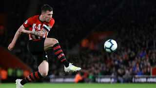 Southampton's Pierre-Emile Hojbjerg in action during the EPL match between Southampton and Liverpool at St Mary's stadium in Southampton on Friday, April 5, 2019. Photo: AP Photo/Kirsty Wigglesworth