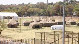 The temporary camp set up for the homeless at Lyttelton sports grounds in Centurion. Picture: Jacques Naude/African News Agency (ANA)