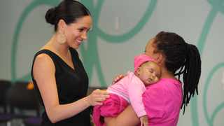 The Duchess of Sussex, Meghan, visiting NPO Mothers2Mothers in Cape Town. Picture: Henk Kruger/African News Agency (ANA)