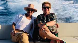 David Beckham on vacation with his old-time friend, Elton John. Picture: Instagram