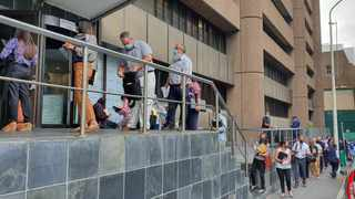 Picture taken at 9:25am on Thursday shortly after the doors opened at the Cape Town deeds office. Picture: Mwangi Githahu/Cape Argus