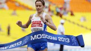 Russian Olympic walker Elena Lashmanova was among those who repeatedly failed doping tests recently. Photo: Franck Fife
