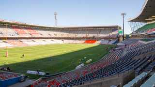 General view of an empty Free State Stadium ahead of the Super Rugby Unlocked match between the Cheetahs and Pumas in Bloemfontein on Saturday. Photo: Frikkie Kapp/Gallo Images
