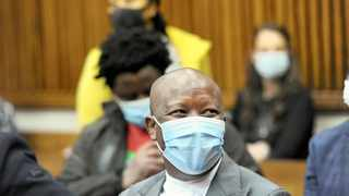 EFF leader Julius Malema at the Randburg Magistrate's Court. Picture: Itumeleng English/African News Agency (ANA)