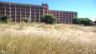 The overgrown plot of land behind the police flats in Herlear. Picture: Soraya Crowie/African News Agency (ANA)