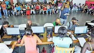 """More than 200 disgruntled university students alleged """"NSFAS has lost approximately R2 billion due to erroneous payments. They now sit with a cash-flow problem and as part of cutting costs, they are illegally excluding students"""". File photo: David Ritchie/African News Agency (ANA)."""
