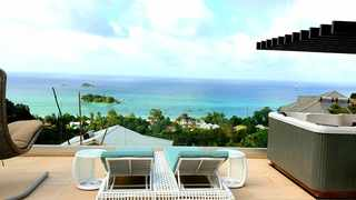 The view from one of the villas owned by Le Duc De Praslin in Seychelles. Picture: Supplied.
