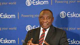 President Cyril Ramaphosa yesterday said that South Africa was working towards breaking Eskom's monopoly over energy supply in the country. Photo: Jairus Mmutle/GCIS