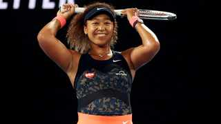 Japan's Naomi Osaka celebrates winning her Australian Open final match against Jennifer Brady of the US on Saturday. Photo: Loren Elliott/Reuters