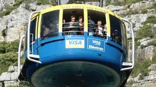 The cable car to the top of Cape Town's Table Mountain. Tourism has taken a knock with South Africa's visa regulations. Photo: Adrian de Kock
