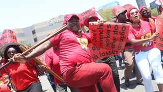 Cosatu calls on its workers to join protest. Picture: Zanele Zulu/African News Agency(ANA)